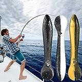 Clmcsf 1 Juego de 3 Piezas, Kit de Cebo de piquero, señuelo de Pesca Realista, Juego de señuelos para lubina, señuelos de Pesca Animados, señuelos de Silicona para Pesca, Juego de señuelos(2 Juegos)