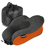 Fosmon Travel Neck Pillow, Soft and Comfortable Memory Foam Neck, Head & Chin