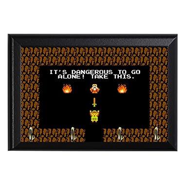Retro Legend of Zelda Decorative Wall Plaque Key Leash Coat Jewlery Hook Holder Hanger 8  X 6