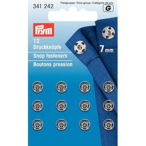 Prym Druckknöpfe, Metal, Silber, 7 mm Durchmesser