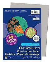 Pacon SunWorks Construction Paper 9 x 12 50-Count Gray (8803) [並行輸入品]