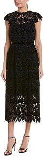 فستان ماسينا النسائي بأكمام قصيرة متوسط الطول من شوشانا