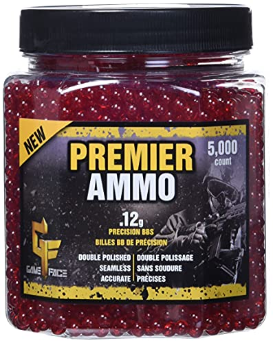 GAME FACE ASP512 Premier Ammo .12-Gram Red Airsoft BBs (5,000-Count)