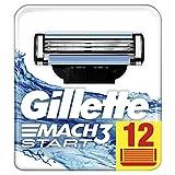 Gillette Rasoir Mach3 Homme, Pack de 12 lames  [OFFICIEL]