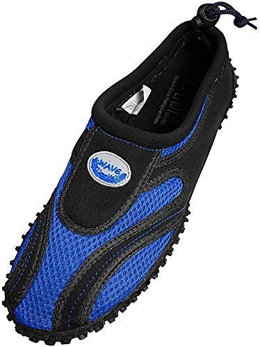 The Wave Zapatos de agua impermeables para hombre, (Real/negro), 44.5 EU