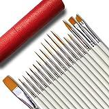 Afantti - Juego de pinceles para pintar en miniatura (18 unidades, punta extrafina y cerdas de nailon)
