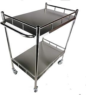 carrello da cucina con rotelle a 3 ripiani salone di bellezza ufficio Jakago con 2 ripiani richiudibili Foglia di t metallo 3 ripiani spa bagno per casa cucina