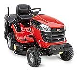 SABO Rasentraktor 92 H, 2-Zylinder V-Twin OHV Benzinmotor, Nennleistung 8.8 kW, Schnittbreite 92 cm, Schnitthöhe 25-89 mm, 300 L Grasfangkorb, Hinterradantrieb, elektrische Messerzuschaltung