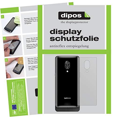 dipos I 2X Schutzfolie matt kompatibel mit Lenovo Z5 Pro GT Rückseite Folie Bildschirmschutzfolie