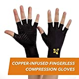 CopperJoint Fingerless Compression Gloves –...