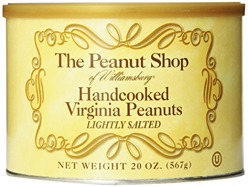 The Peanut Shop of Williamsburg Handcooked Virginia Peanuts, Lightly Salted, 20 Ounce