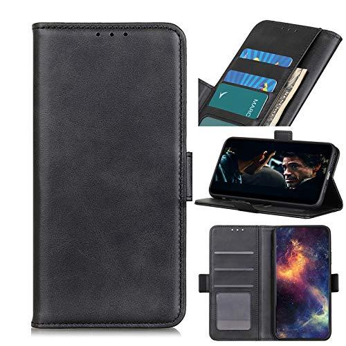 NEINEI Handyhülle für ASUS ROG Phone 5 Hülle,Premium PU Leder Klapphülle Brieftasche mit [Kartenfach] [Magnetisch],Rindsleder Textur Flip Cover Hülle Schutzhülle,Schwarz