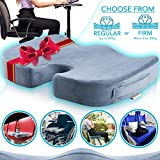 Vector Orthopedic Memory Foam Seat Cushion for Back Support, Sciatica Relief, Tailbone, Coccyx