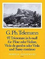 TELEMANN - Trio Sonata en Si menor (TWV:42/b 4) para Flauta, Viola y BC (Partitura/Partes)