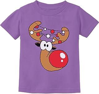 Tstars - Cute Reindeer Lights Boy/Girl Christmas Toddler Kids T-Shirt