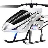 Darenbp Juguete RC para niños Super gran helicóptero de radio de RC helicóptero teledirigido de 3.5 Canal Gyro 2,4 GHz estable fácil de aprender el buen funcionamiento del LED interiores de helicópter