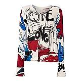 Desigual Arty V-Neck Suéter, Multicolor (Crudo 1001), XS para Mujer
