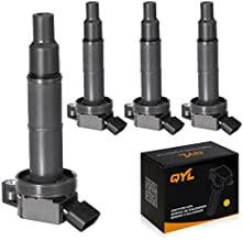 QYL Pack of 4Pcs Ignition Coils Replacement for Toyota Camry Solara Rav4 Highlander/Scion Tc Xb #UF333 C1330 6731307 90919-02244
