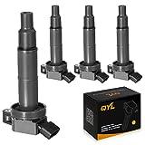 QYL Pack of 4Pcs Ignition Coils for Camry Solara Rav4 Highlander Tc Xb #UF333 C1330 6731307 90919-02244