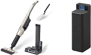 【セット買い】アイリスオーヤマ スティッククリーナーi10 掃除機 コードレス 静電モップ付き 自走式回転ブラシ 2WAY シャンパンゴールド IC-SLDCP9 & スティッククリーナーi10 別売バッテリー CBL2821 セット