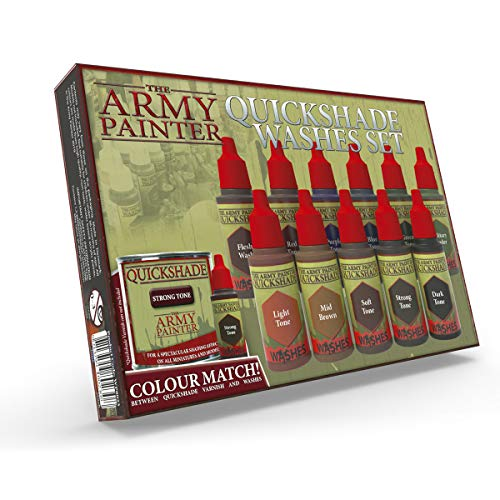 The Army Painter | Quickshade Washes Set | 11 Acryl Quickshade Farben | Für Wargames, Rollenspiel und Tabletop Miniatur Modellmalerei