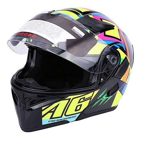 Casco integral de moto unisex adulto con forro, varios colores a elegi