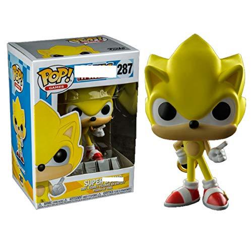 Bobblehead POP de Sonic-Super Sonic Hedgehog ultrasónico decoración del coche Ratón (Color : D)