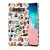 Protective Case for Galaxy S10 Plus, Raised Edges Scratch Resistant Lightweight Flexible Soft TPU Rubber Silicone Cell Phone Cover for Samsung Galaxy S10+ Kawaii Harry Potter Doodle