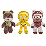 Star Wars Endor Celebration Plush 3-Pack with 2 Ewoks & C-3PO Soft Doll, Collectible Toy Gift for Fans Age 3 Years & Older [Amazon Exclusive]