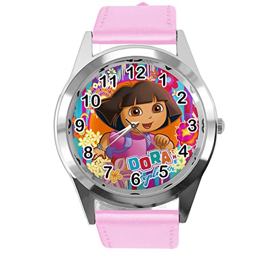 Taport® Dora The Explorer Quarzuhr rosa Lederband