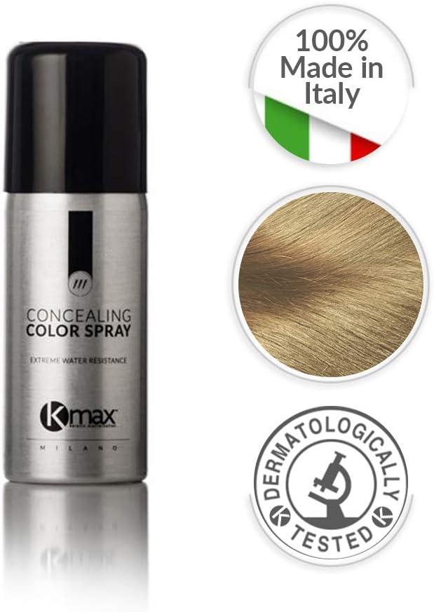 Kmax Spray Color - Castaño Claro- Para ocultar problemas de pérdida cabello. Alta resistencia a la humedad. 100 ml