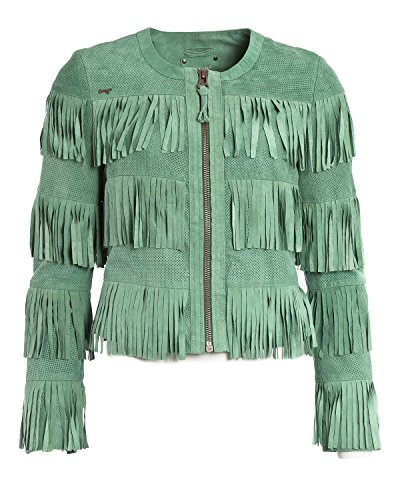 MAZE pelle giacca, donna Zaria (verde menta)