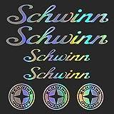 For SCHWINN Bikes Bicycle Frame MTB BMX Race Road Vinyl Graphic Stickers Set Frame body car styling decorative Decal Sticker Kit (SILVER)