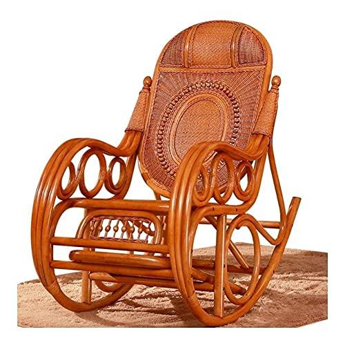 Sedia a dondolo da giardino, comoda sedia a dondolo in vimini, sedia a dondolo per giardino, cortile, portico, prato, balcone, cortile all'aperto