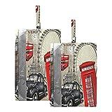 Hunihuni Bolsa de viaje para zapatos de viaje vintage London City impermeable bolsa organizadora de zapatos con cremallera, 2 unidades