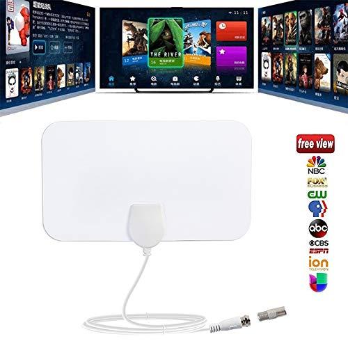 XuBa Indoor Haushalt Free TV Surf Radius Antenne Digital HDTV Kabel TV Antenne DVB-T/T2 VHF UHF TVSurf Antennen Receiver weiß