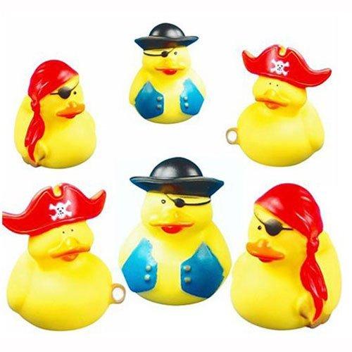 Playwrite Lot de canards en caoutchouc pour le bain idéal pour les sac à surprises Motif pirate