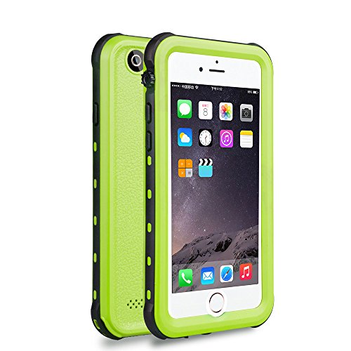 Zimu Joy iPhone 6 / 6s Waterproof Case, Underwater Full Sealed Cover Snowproof Shockproof Dirtproof IP68 Certified Waterproof Case for iPhone 6/6s 4.7 inch (Green)