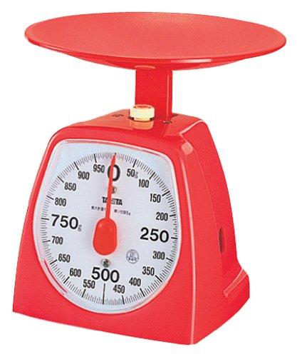 タニタ アナログクッキングスケール 1kg レッド 1439-1kg
