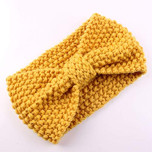 Haarband voor baby's, meisjes, elastisch, strik, wol, turban, konijnen, breien, haarband, voor baby's, kinderen, pasgeborenen, 4 stuks 4