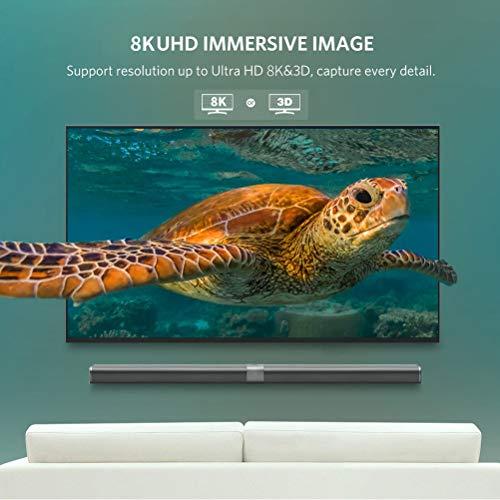 ConnBull HDMI Glasfaser Kabel HDMI 2.1 Unterstützung 4K@120Hz, 8K@60Hz, 48 Gbit/s für PS5 PS4, TV usw(10m)