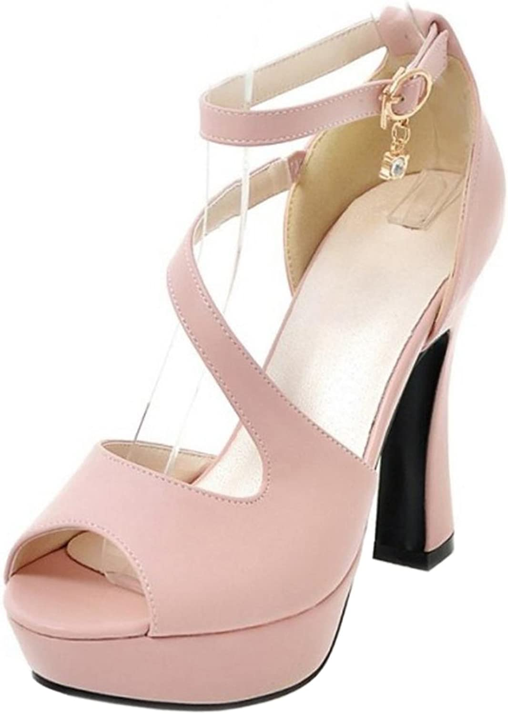 AicciAizzi Women Peep Toe Heels Sandals