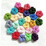 Case&Cover 33 Colores de Lana Flores Ropa Accesorios para los Clips de Pelo de la Manera Barrette Headwear del Ornamento Accesorios de Ganchillo de Lana de Flores Color al Azar