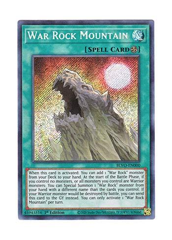 遊戯王 英語版 BLVO-EN000 War Rock Mountain (シークレットレア) 1st Edition