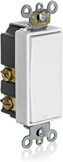 Leviton 56080-2W Momentary Contact SPST Decora Plus Rocker Switch, White,