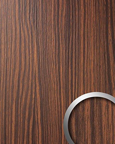 Wandverkleidung Wandpaneel Holzoptik WallFace 12441 WOOD MAKASSAR Kunststoff selbstklebend braun 2,60 qm