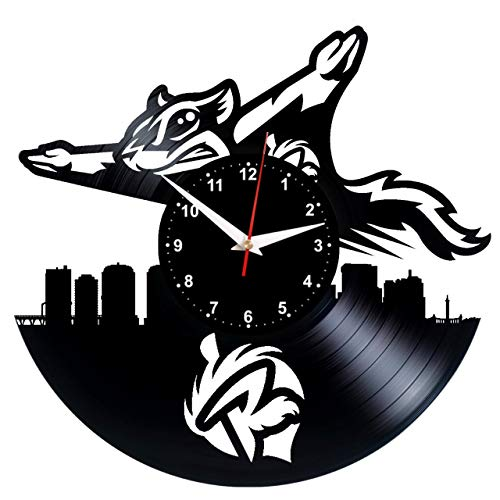 EVEVO Richmond Flying Squirrels wandklok vinyl plaat retro klok handgemaakt vintage geschenk stijl kamer decoratie leuk geschenk wandklok Richmond Flying Squirrrels