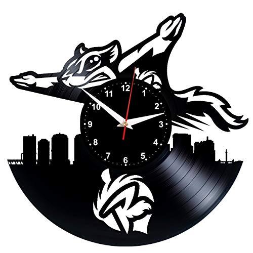 EVEVO Richmond Flying Squirrels Wanduhr Vinyl Schallplatte Retro-Uhr Handgefertigt Vintage-Geschenk Style Raum Home Dekorationen Tolles Geschenk Wanduhr Richmond Flying Squirrels