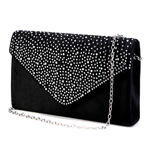 Nodykka Purses and Handbags Envelope Evening Clutch Crossbody Bags Classic Wedding Party Shoulder Bag for Women