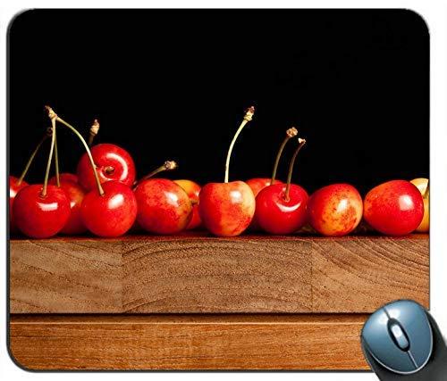 Köstliches rotes Kirschholz-Tisch-Mauspad Anti-Rutsch-Desktop-Mauspad Gaming-Mauspad